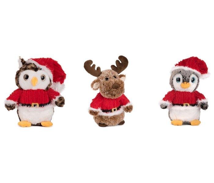 Plišana igračka Amek igracka obucena u novogodišnji outfit 20 cm