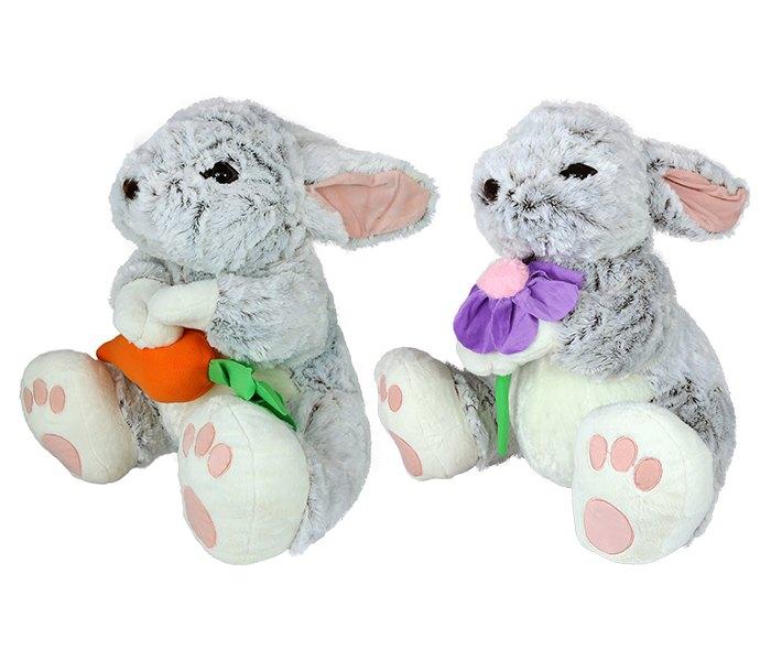 Plišana igračka Amek zec sa ljubicastim cvijetom ili šargarepom 55 cm