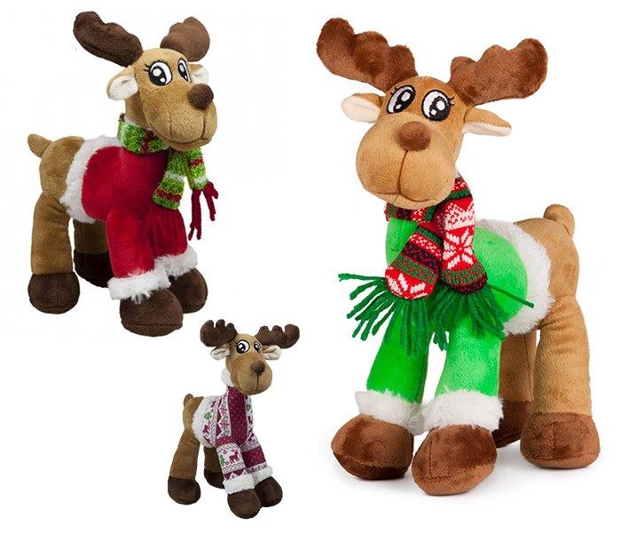 Plišana igračka Amek novogodišnji jelen 25 cm