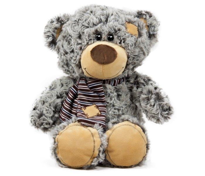 Plišana igračka Amek medvjed sa šalom 25 cm