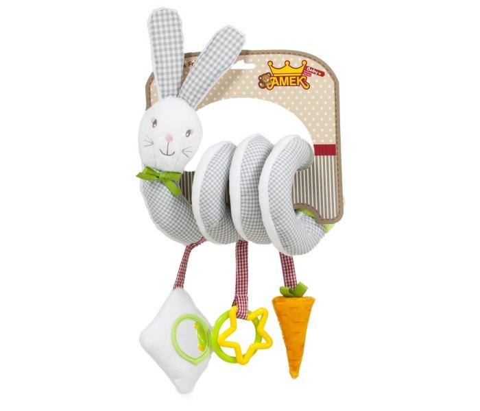 Plišana igračka Amek bebi uvijen zec 34 cm