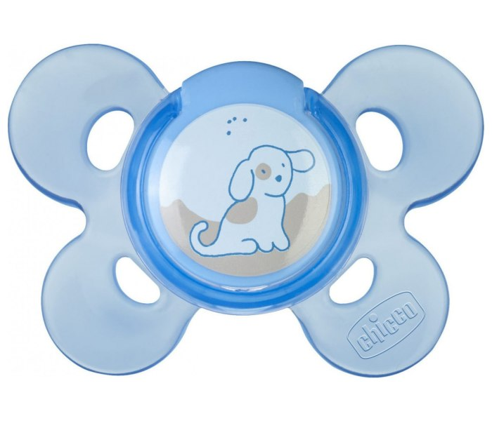 Varalica physio silikon 0-6m 1/1 0%bpa plava comfort