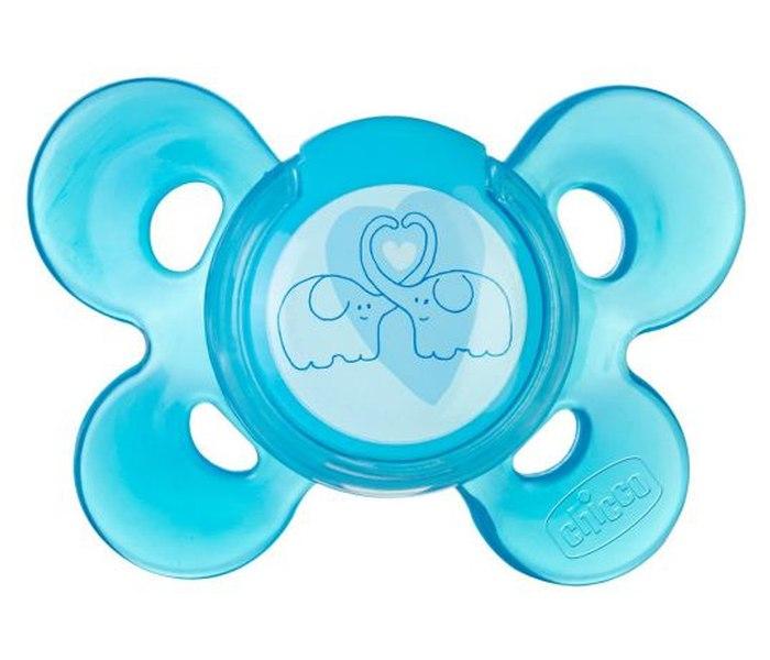 Varalica physio silikon 6-16m 1/1 0%bpa-plava comfort