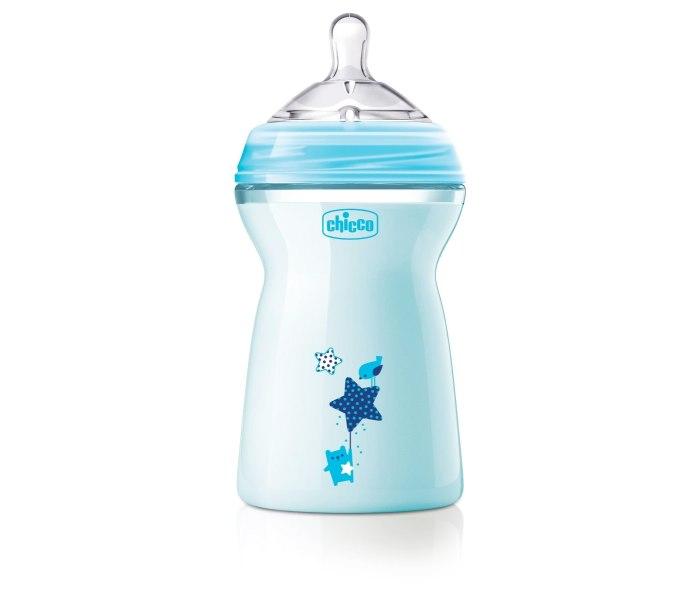 Flasica natural feeling silikon 330 ml plava 6+0%bpa