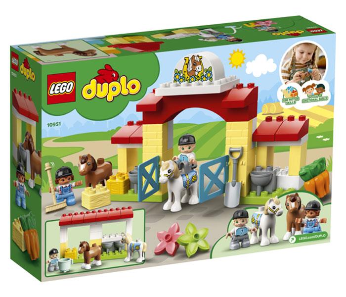 Igračka Lego kocke Horse stable and pony care, Duplo, 2g+
