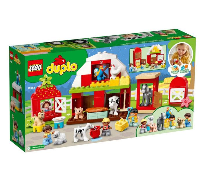 Igračka Lego kocke Barn, Tractor & farm animal care, Duplo, 2g+