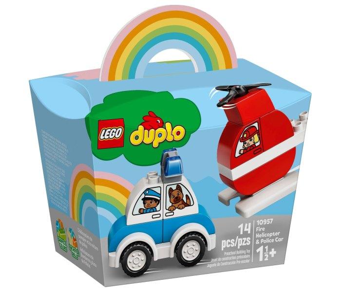 Igračka Lego kocke Fire helicopter & police car, Duplo