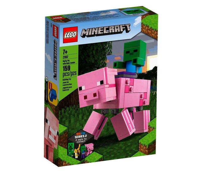 Lego kocke Big fig pig with baby Zombie 7g+, minecraft