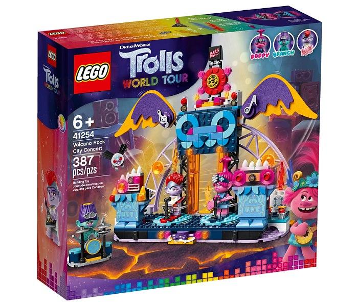 Igracka Lego kocke volcano rock city concert  Trolls