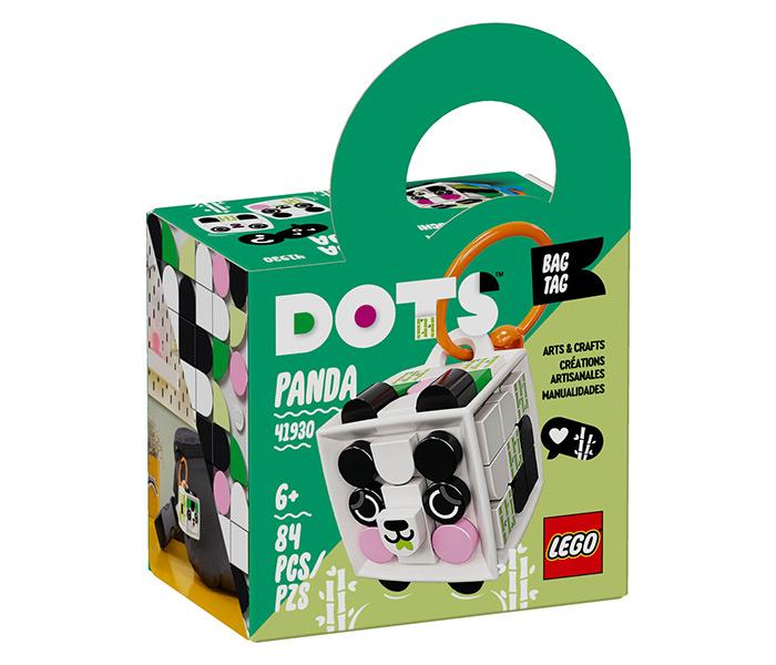 Igračka Lego kocke bag tag Panda,Dots, 6g+