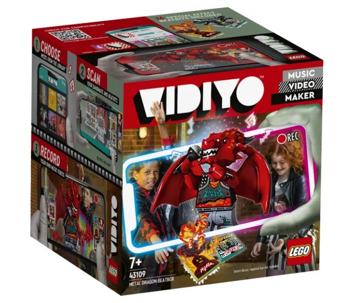Lego kocke Metal Dragon Beatbox, Vidyo 7+