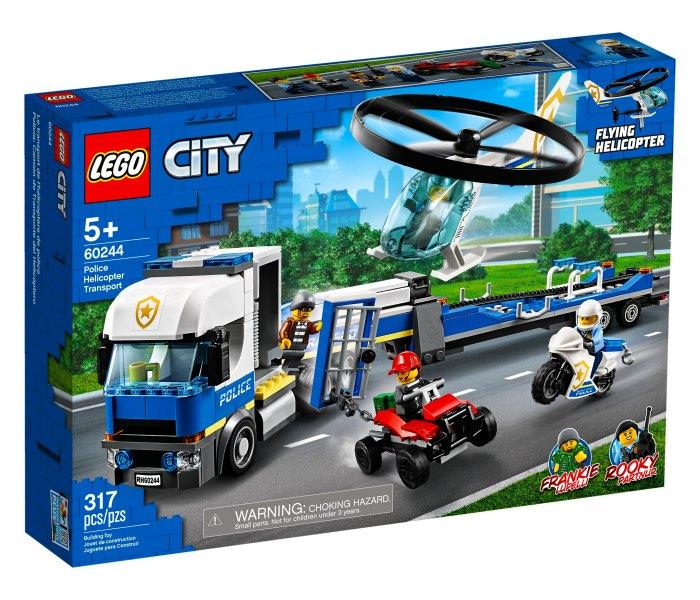 Lego kocke police helicopter transport,5g+ City