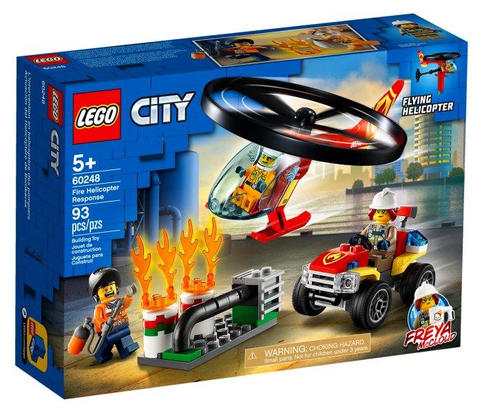Lego kocke fire helicopter response 5g+, city