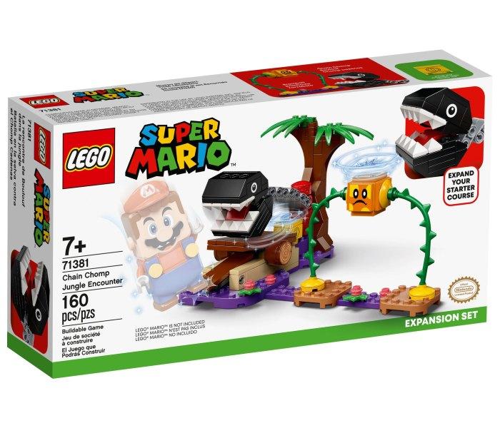 Igračka Lego kocke Chain chomp jungle encounter expansion set, Super Mario, 7g+