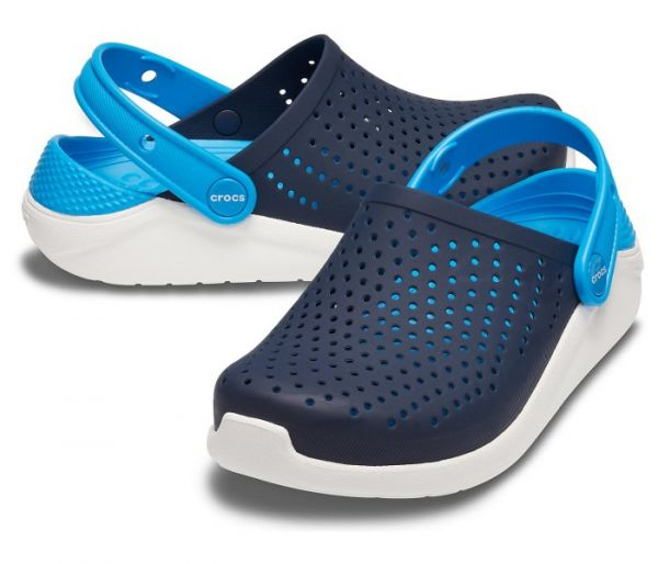 Crocs klompa lite ride plavo bela za djecaka