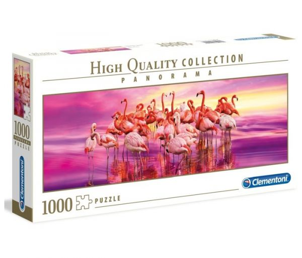 Igračka Clementoni puzle 1000 panorama flamingo