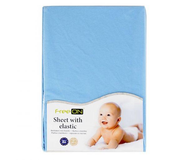 Čaršaf  Bubaba za krevetić, plavi