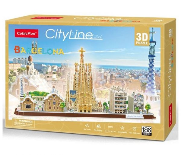Igračka Cubbic fun puzzle city line Barcelona