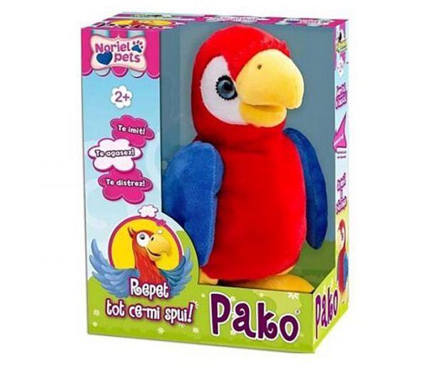 Igračka plišana Pako, brbljiva papiga