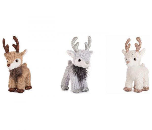 Plišana igračka Amek božicni jelen sa svjetlecim rogovima 22 cm