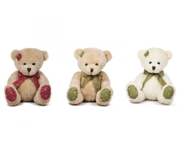 Plišana igračka Amek medvjed sa zakrpama 20 cm