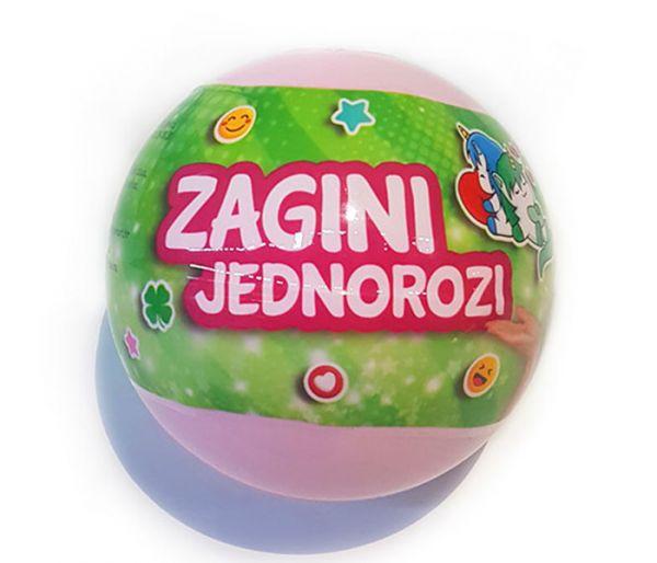 Igračka Zagina loptica, jednorozi