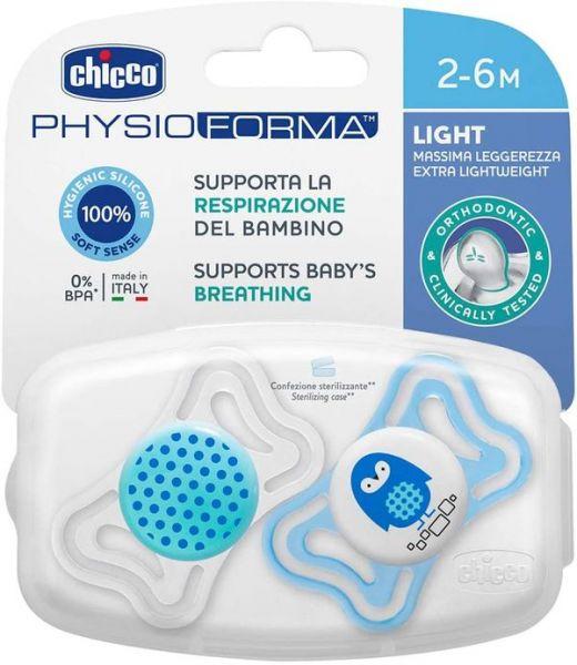 Varalica physio light silikon 2/1 2-6m+ 0%bpa-plava