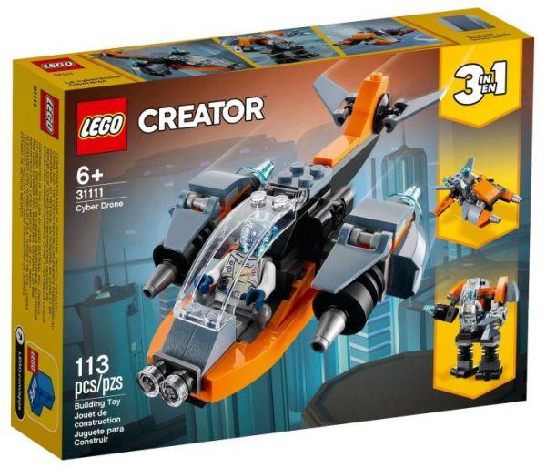 Igračka Lego kocke Cyber drone, Creator 6g+