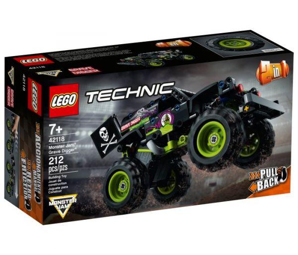 Igračka Lego kocke monster jam grave digger, Technic 7g+