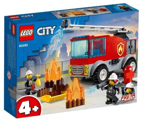 Igračka Lego kocke Fire ladder truck, City 4g+